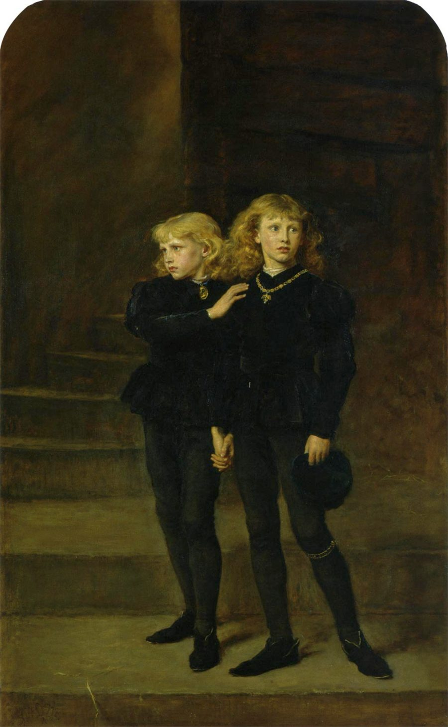 The Princes in the Tower : John Everett Millais 1878