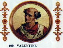 Imagem do Papa Valentino