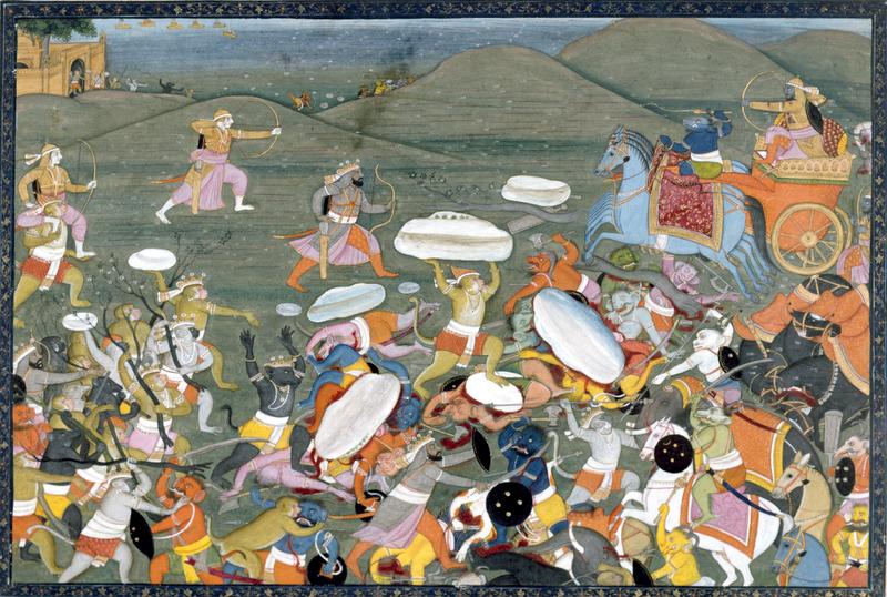 File:Lakshamana fights Indrajit.jpg