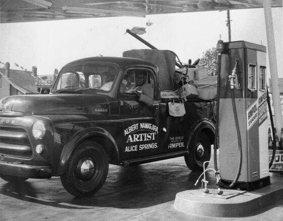 Albert Namatjira refuelling for a trip to Alic...