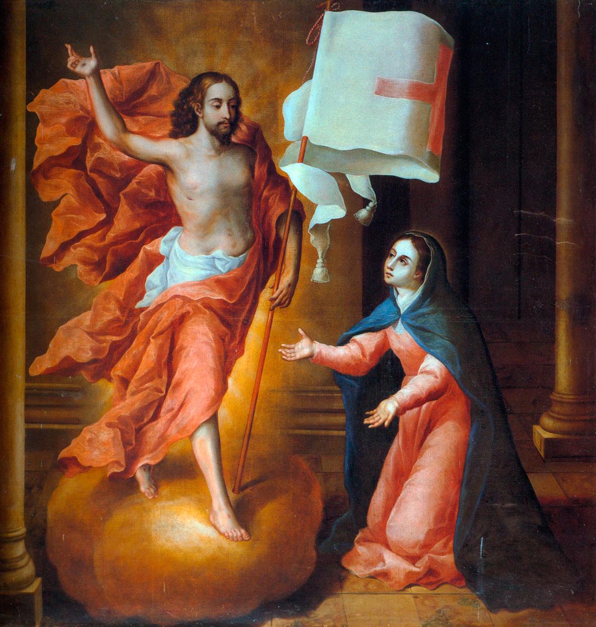 La Pascua de María; 1698, oleo sobre tela.