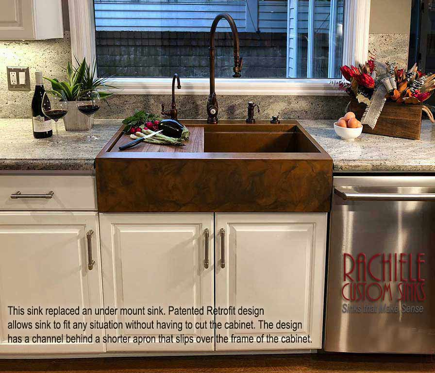 kitchen sink without cabinet copper decor file retrofit farm replaces outdated under mount jpg