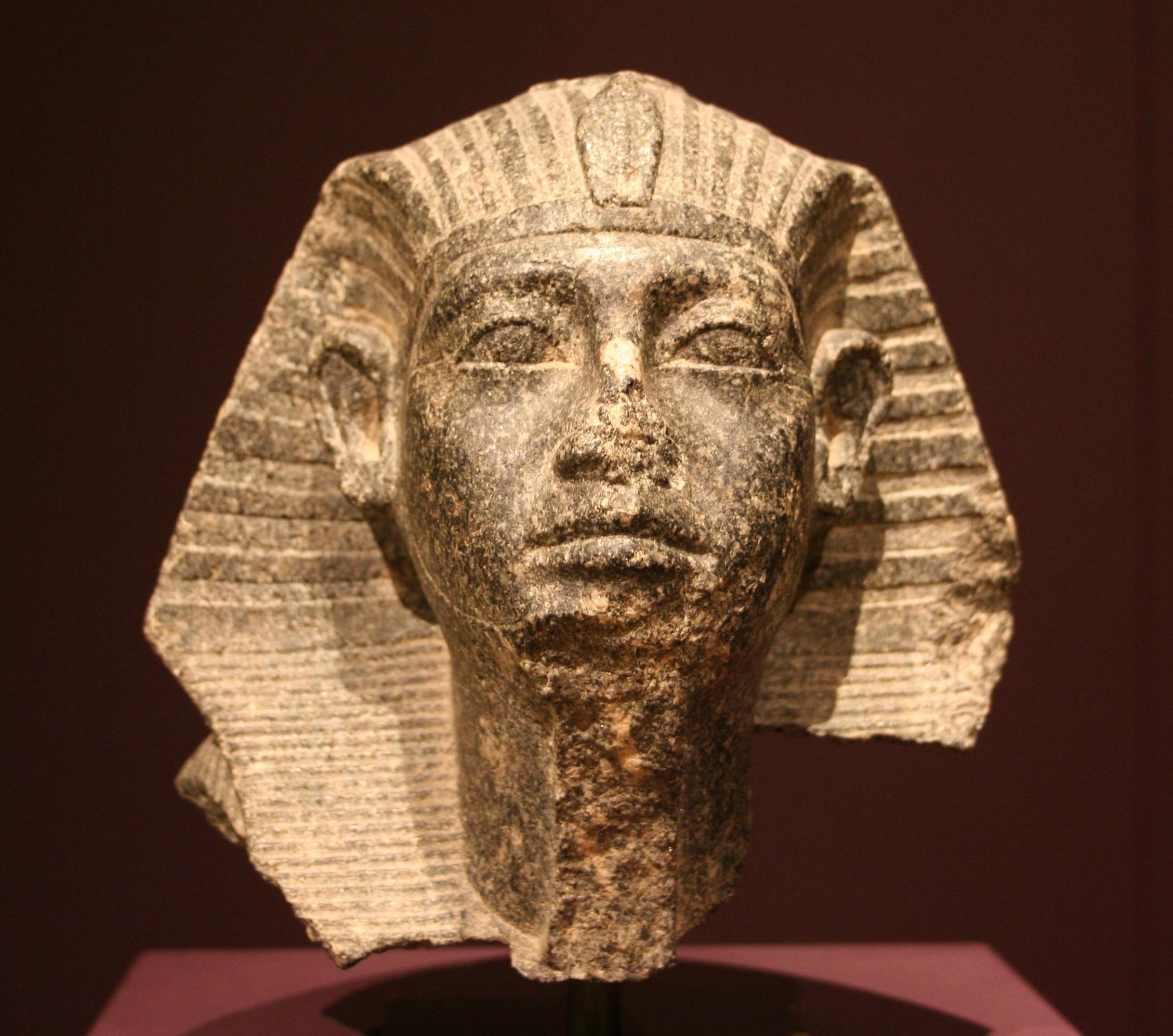 Head of a sphinx statue of Senusret III, Munich Museum