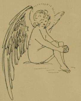 Angel sitting sketch