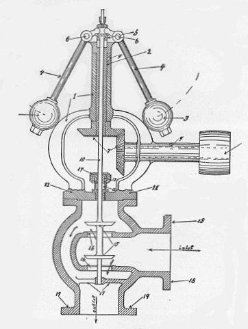 File:Centrifugal governor and balanced steam valve (New