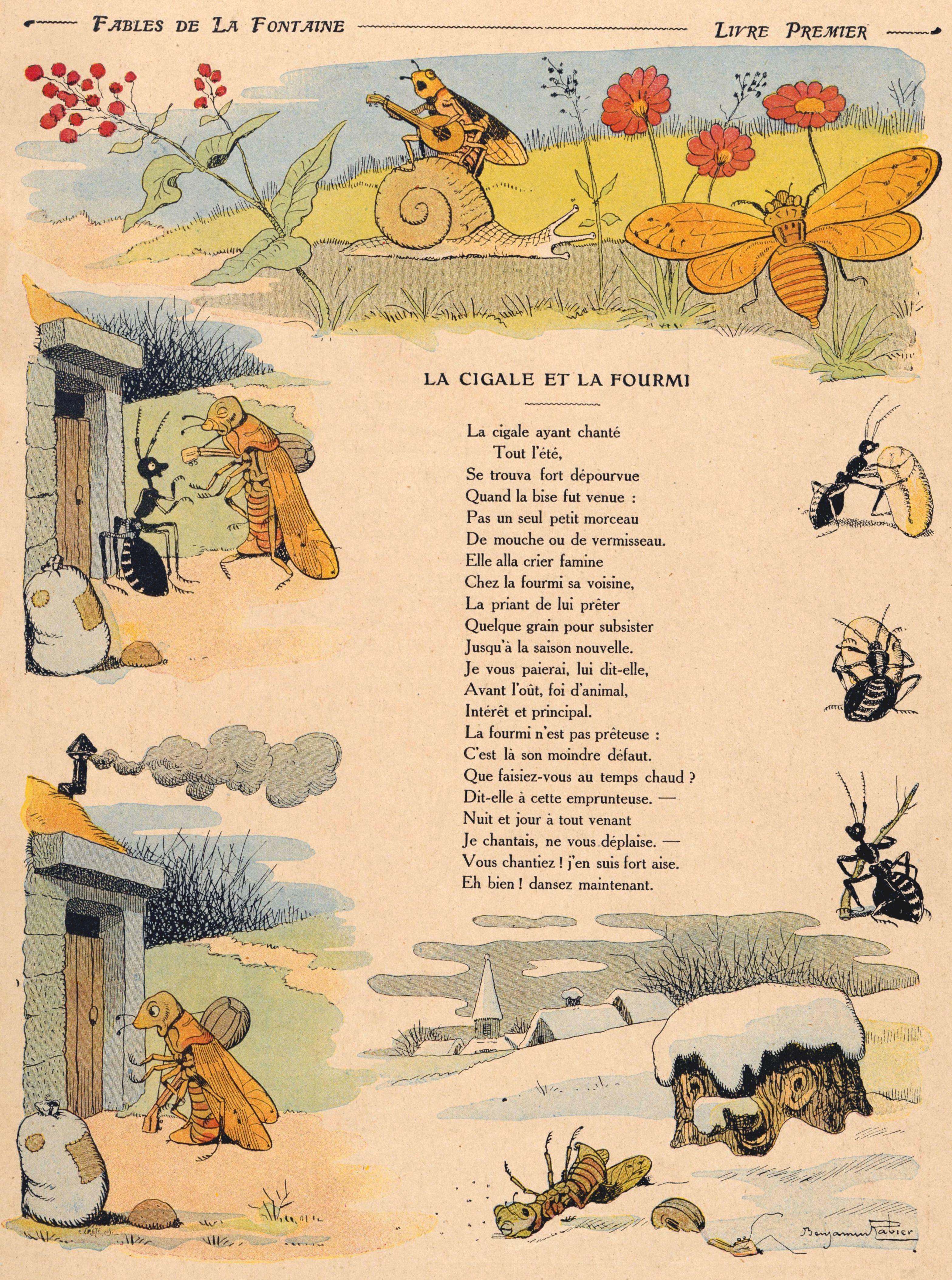 Image La Cigale Et La Fourmi : image, cigale, fourmi, File:Fables-01-cigale.jpg, Wikimedia, Commons