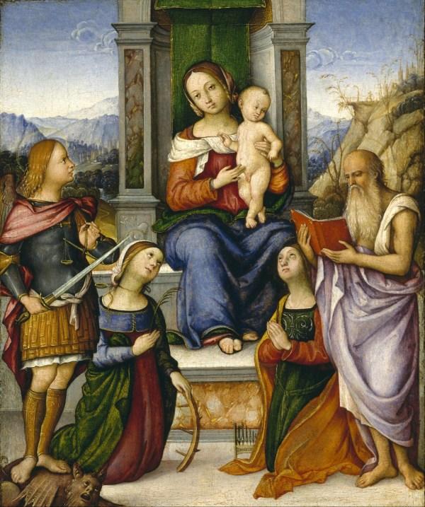 File Girolamo Marchesi - Virgin And Child Enthroned