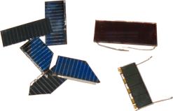 Řezy solárního panelu.