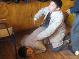 Some guys doing intimidation in Instituto Regi...
