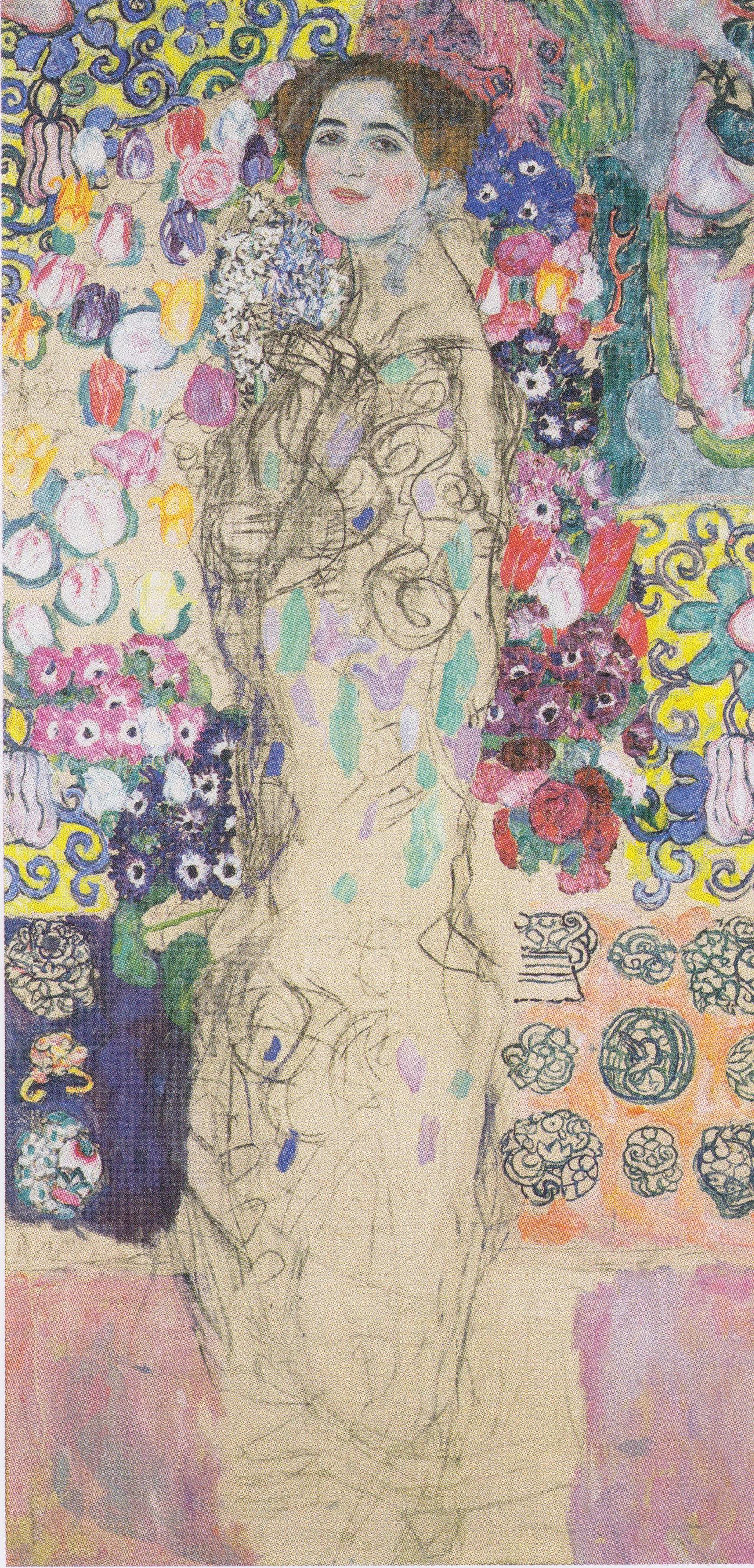 Ria Munk by Gustav Klimt, 1913-18 (Wikimedia Commons)