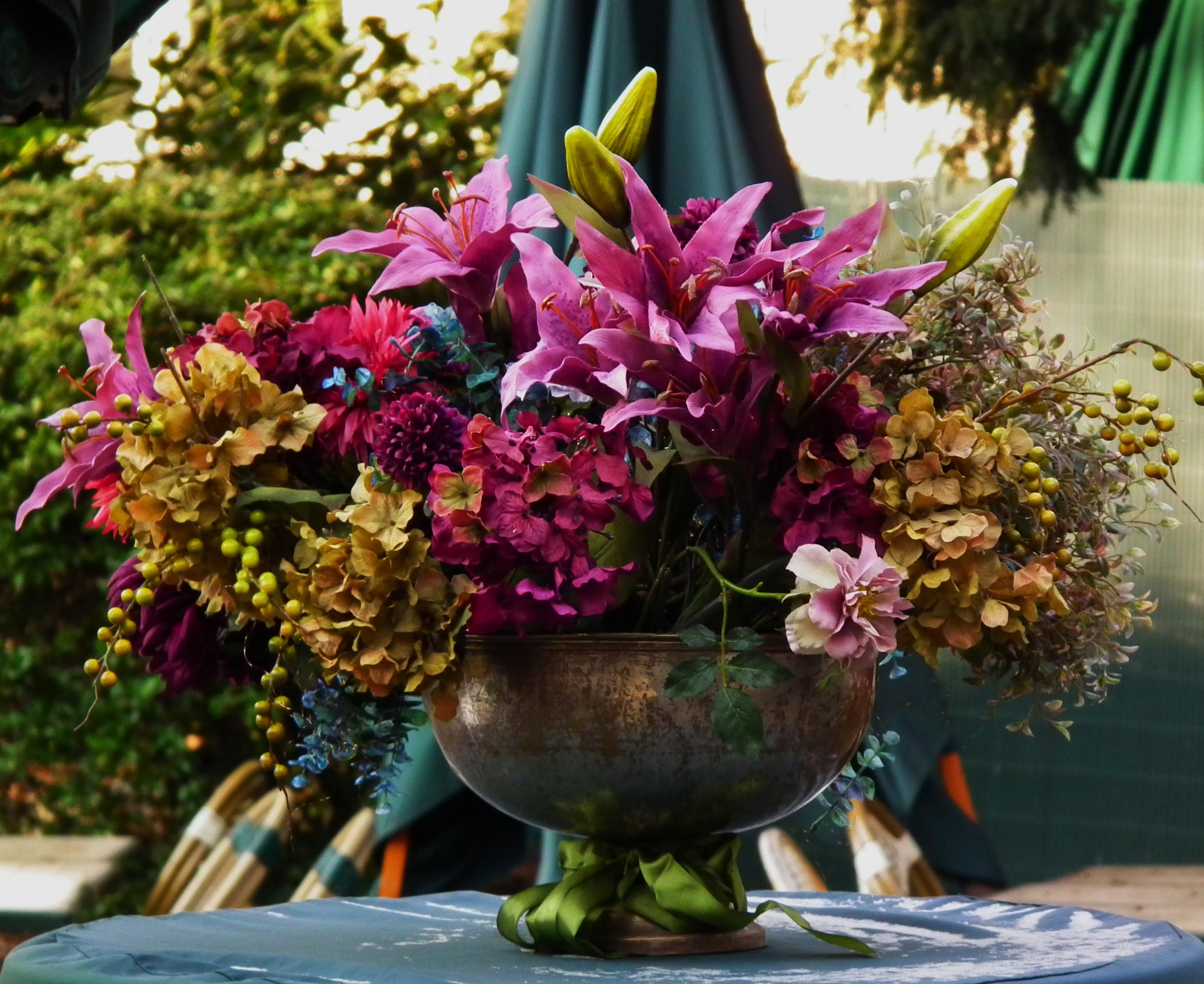 Pin Blumendekoration Hortensien Lilien Hd 2012jpg