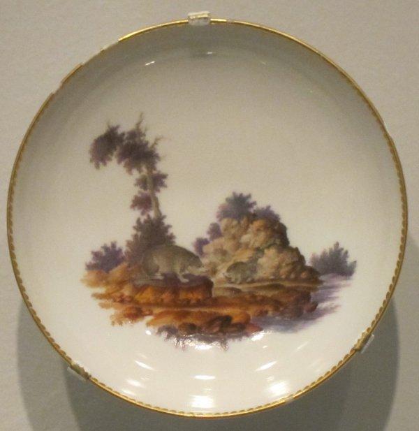 File Plate German Hard-paste Porcelain Breakfast Set . 1765 Berlin Honolulu Museum Of