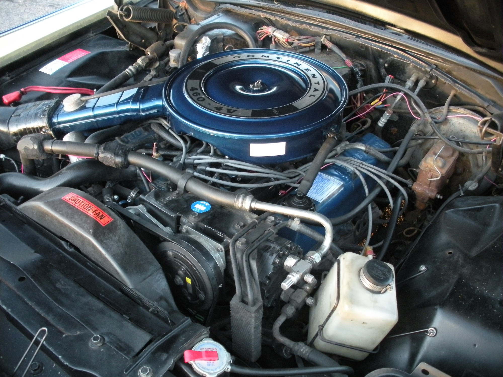 hight resolution of 1971 continental mark iii engine bay 460 v8