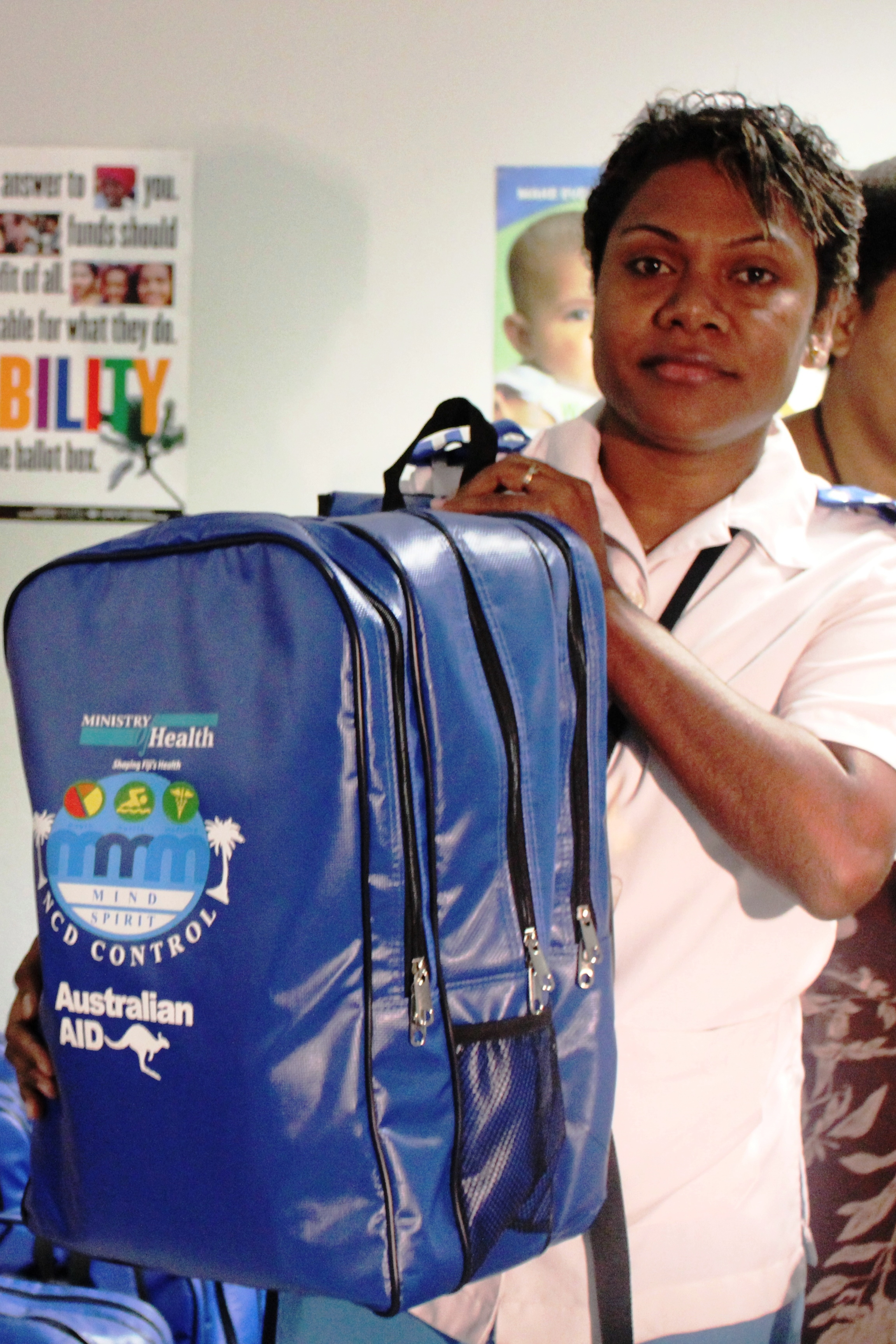 File A Nurse With A Non Communicable Diseases Kit Fiji