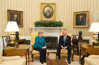 File:Angela Merkel and Donald Trump in the Oval Office ...