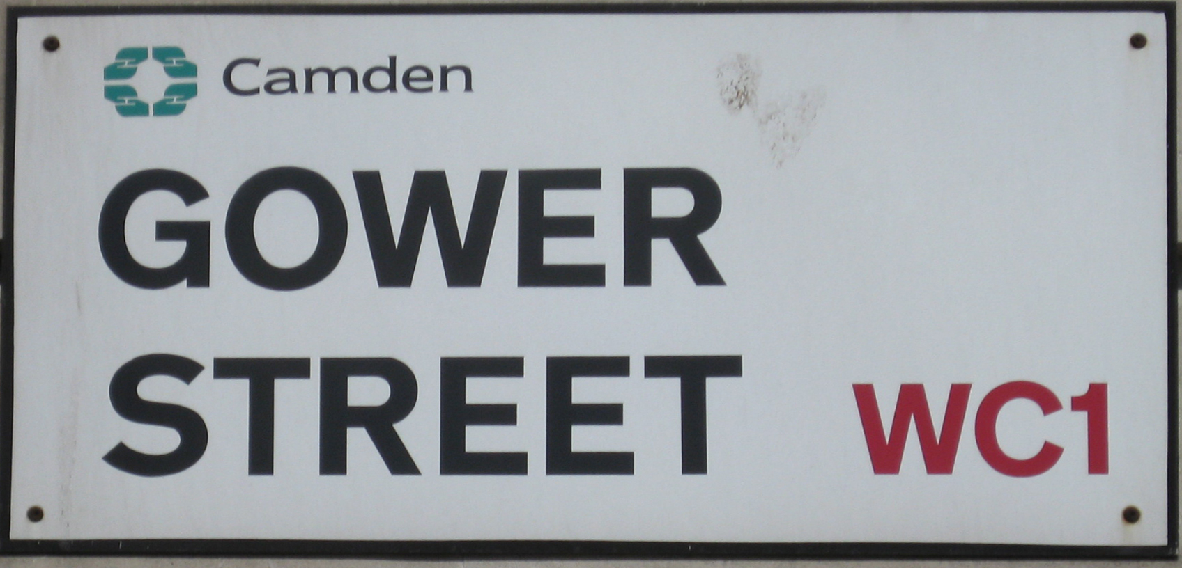 English: Street Sign in London, Gower Street, ...
