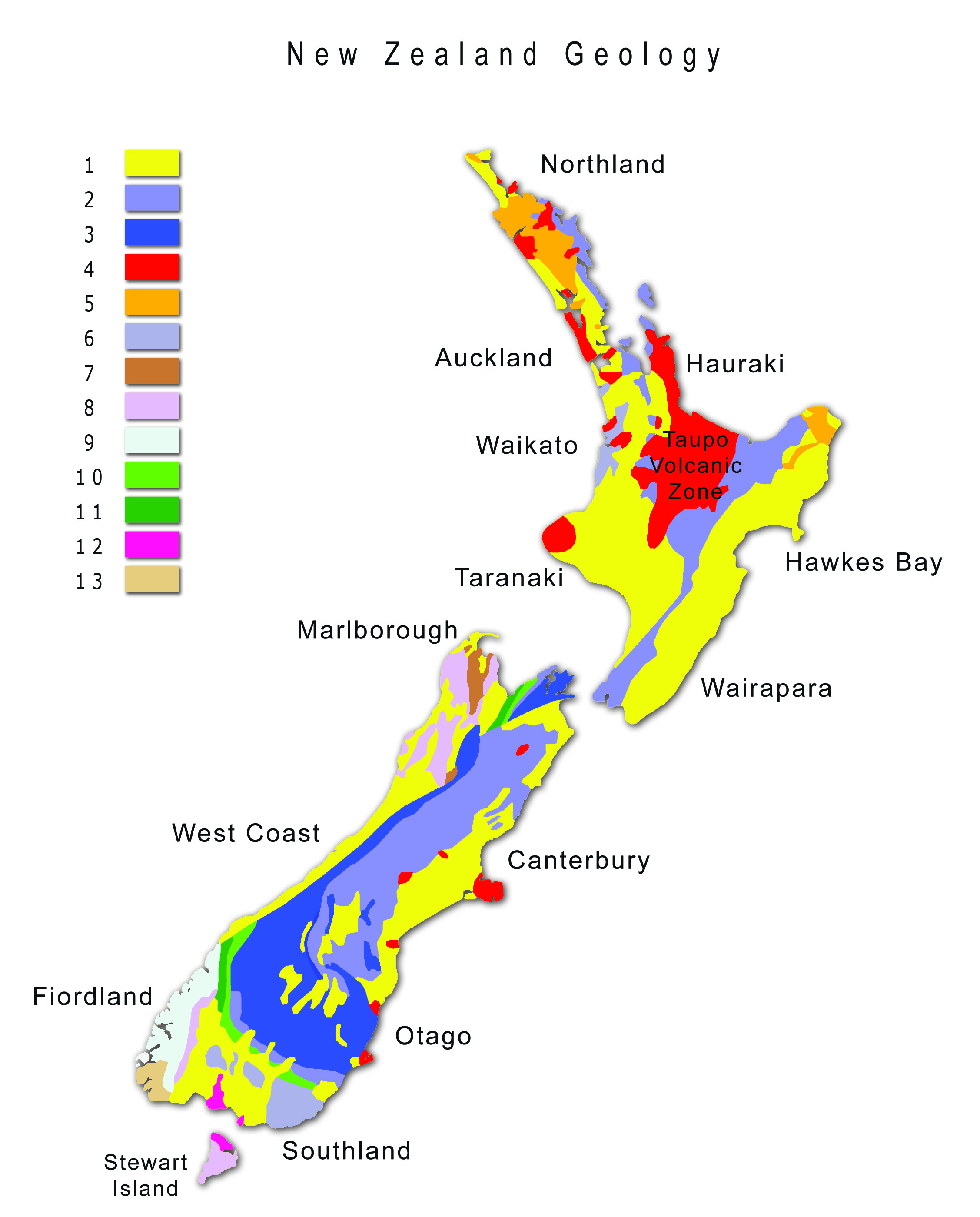 File Map New Zealand Geology