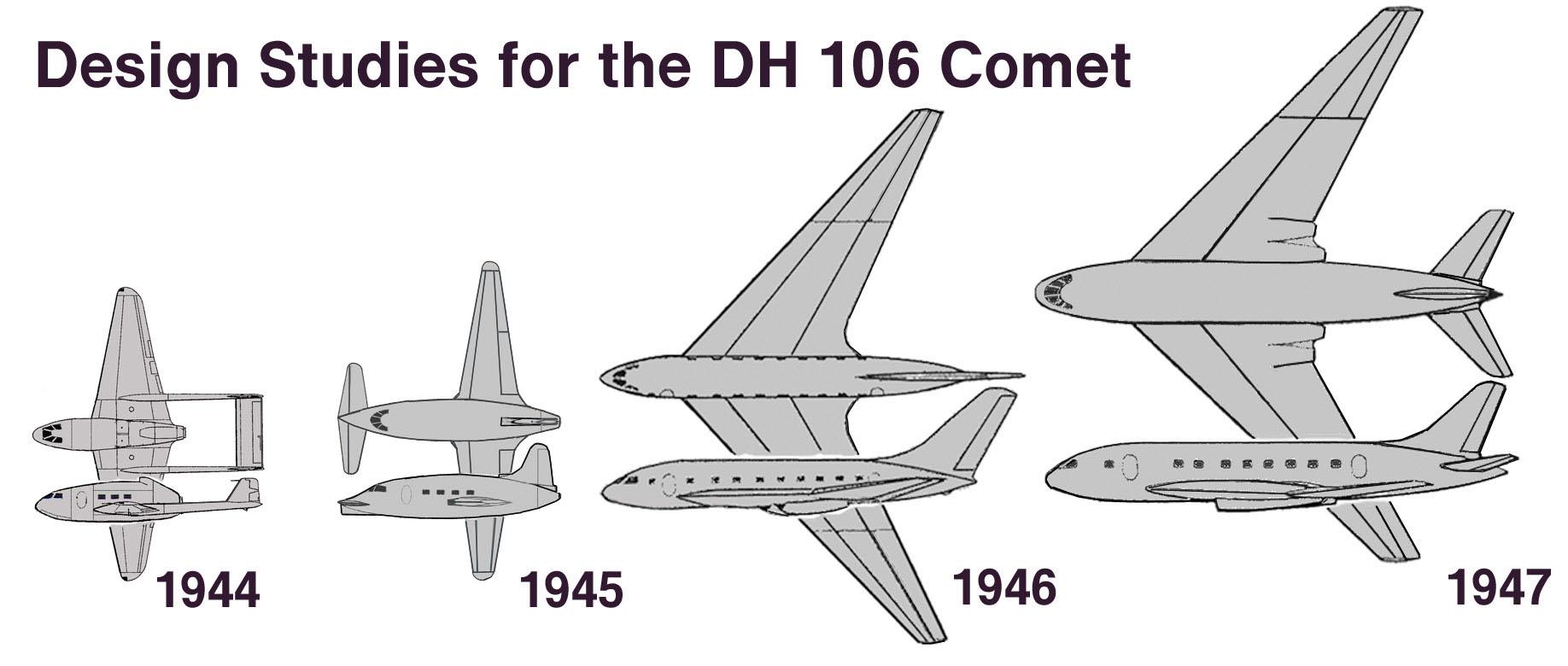 Soubor:Design Studies for the DH 106 Comet.jpg