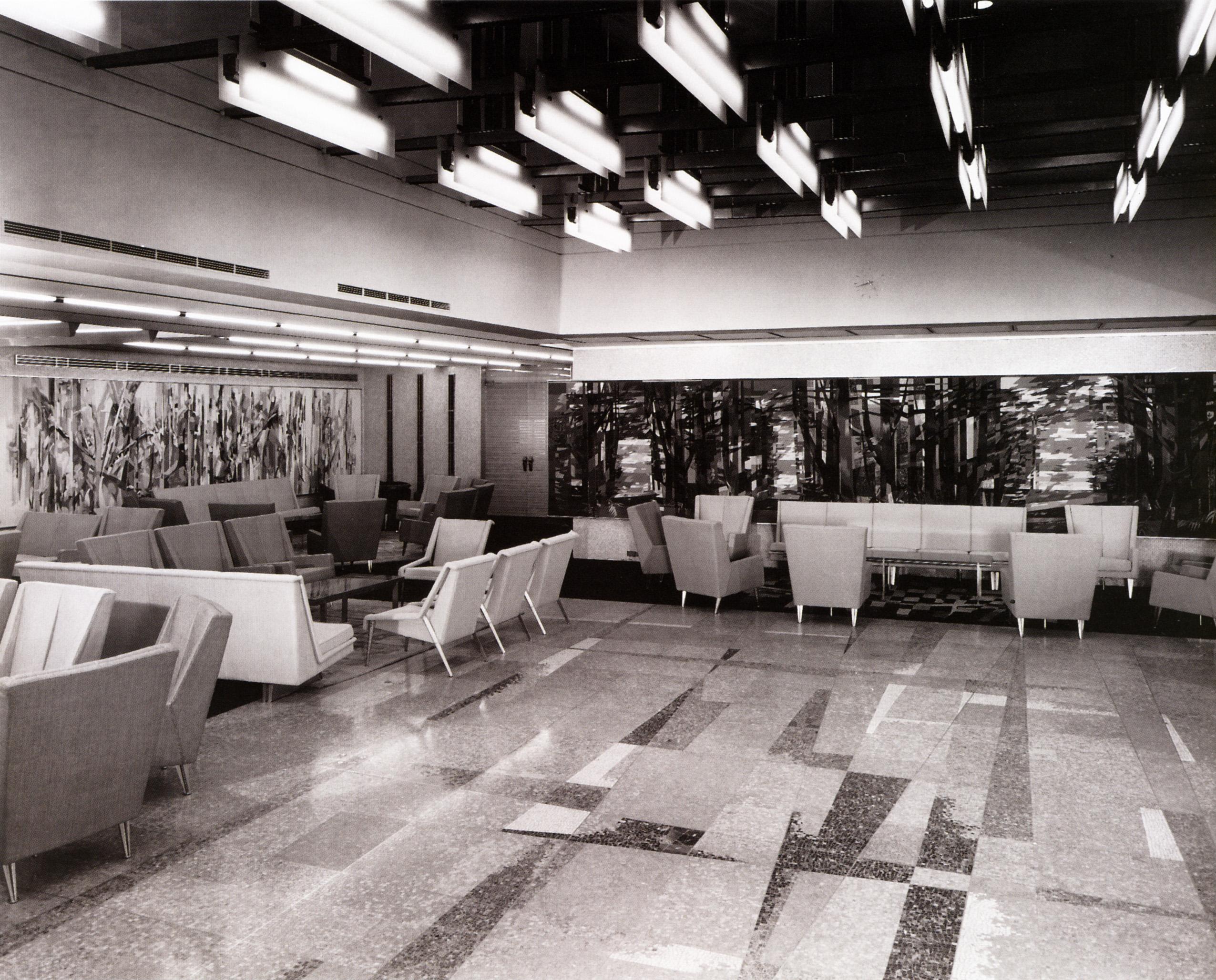 FileGrand salon de premire classe du Paquebot France structure aluminium 1962jpg