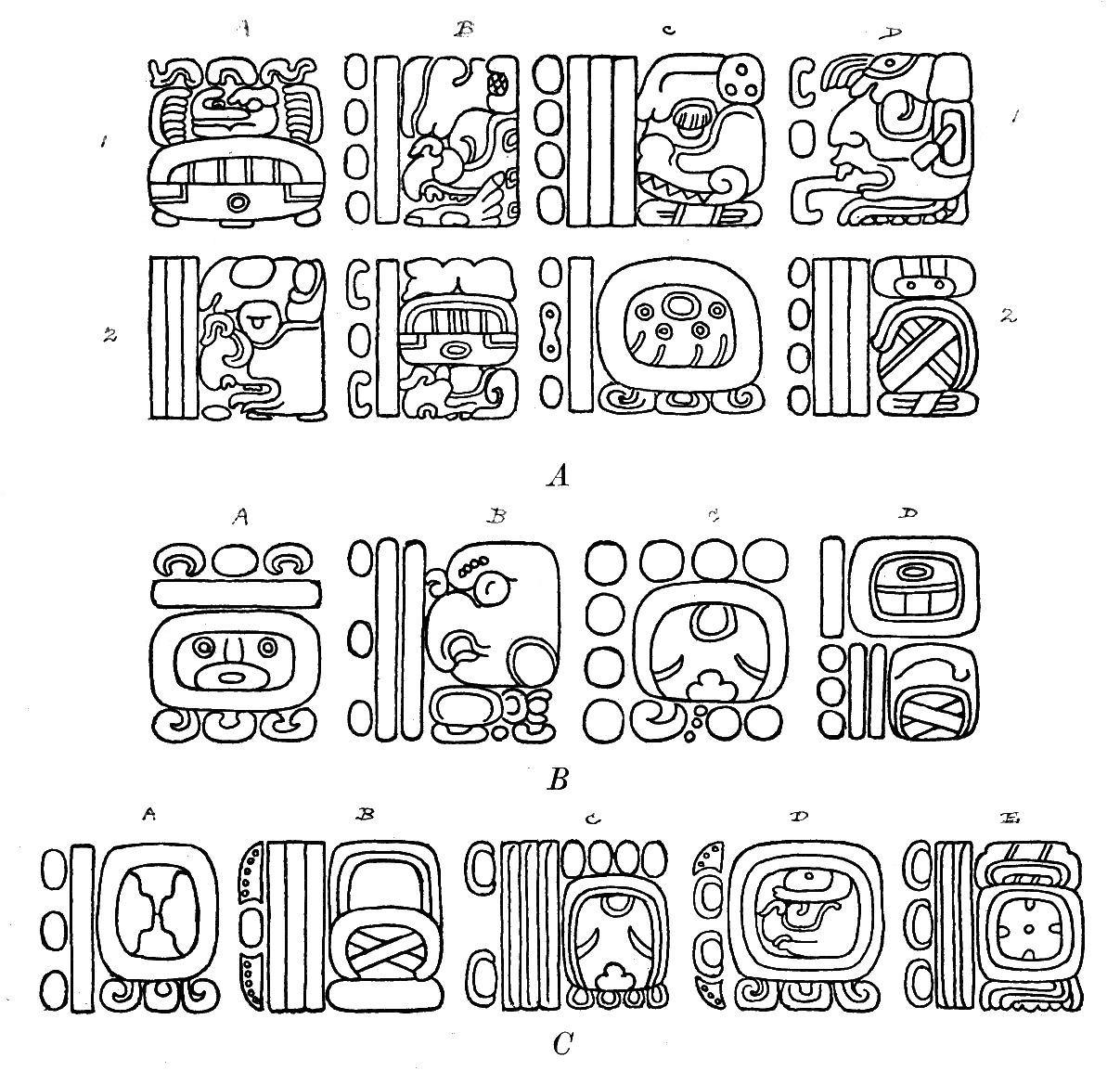 Mayan Glyphs For Kids