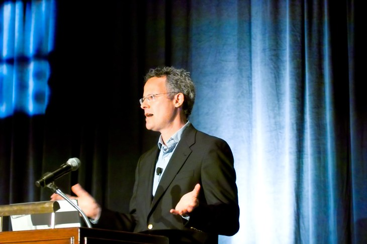Nicholas Carr speaking at the 12th Annual Gild...