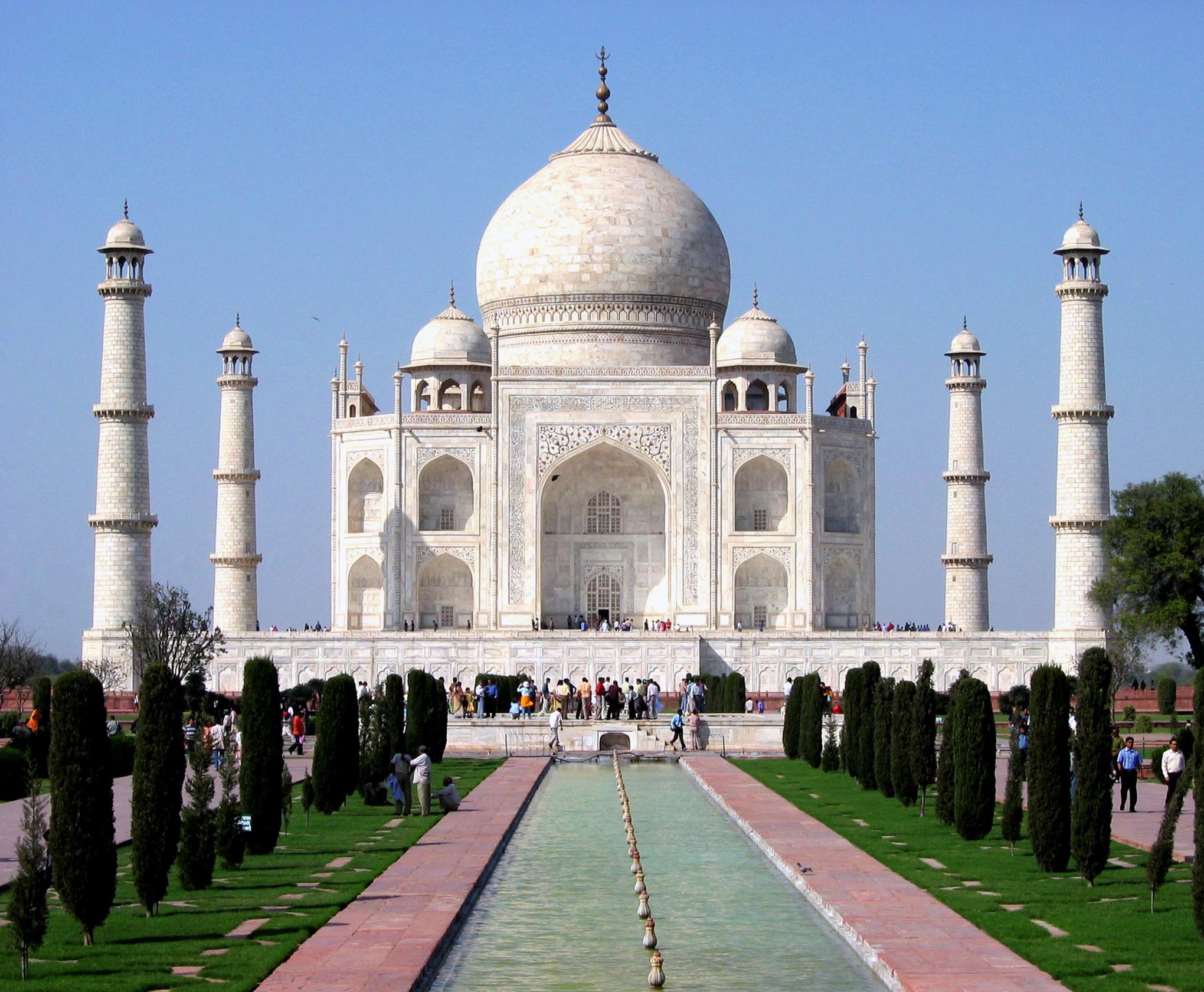 Taj Mahal, Agra, India. Deutsch: Taj Mahal im ...
