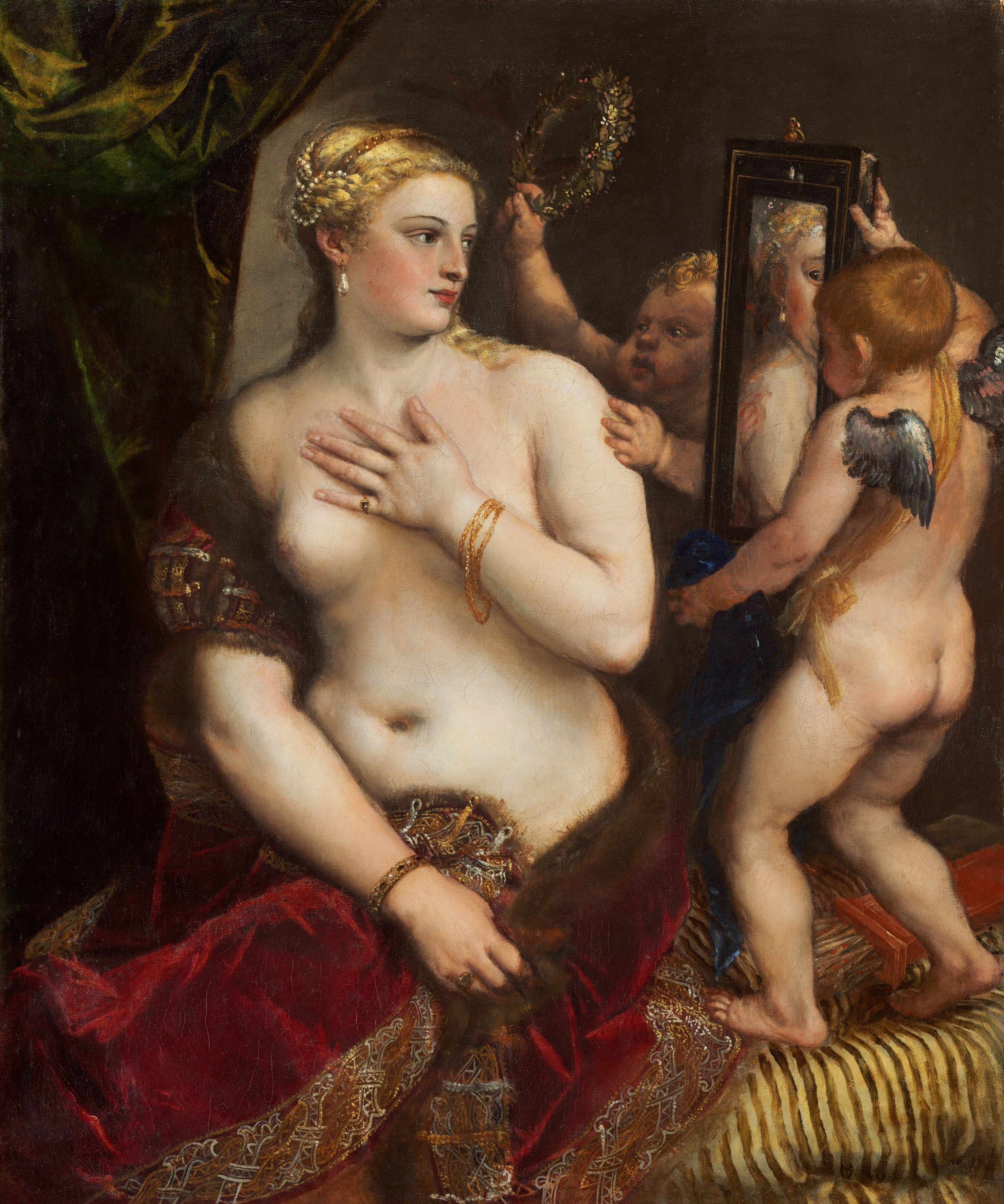 """""""Venus with a Mirror"""" Titian c.1555"""
