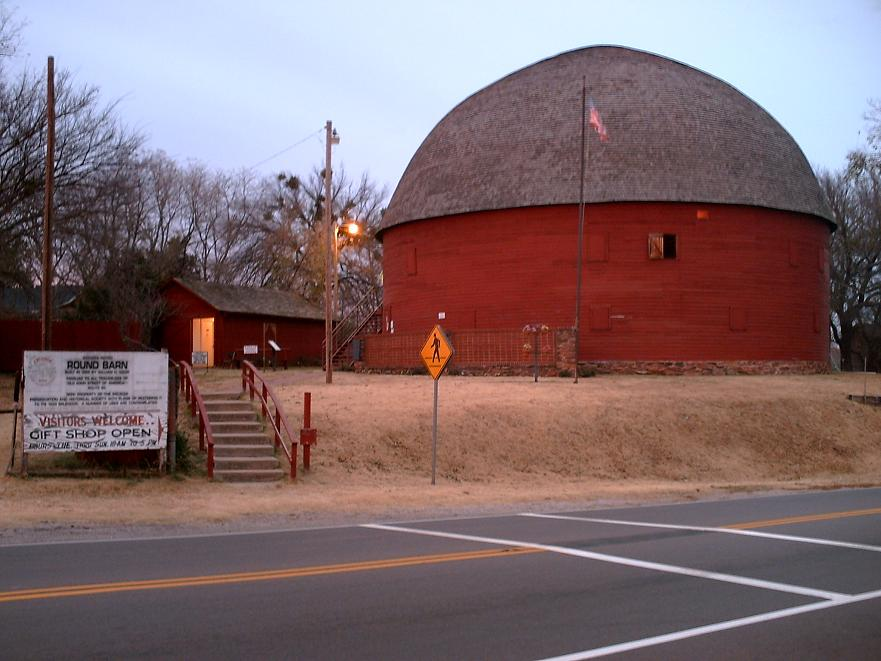 English: The Arcadia Round Barn is a site on t...