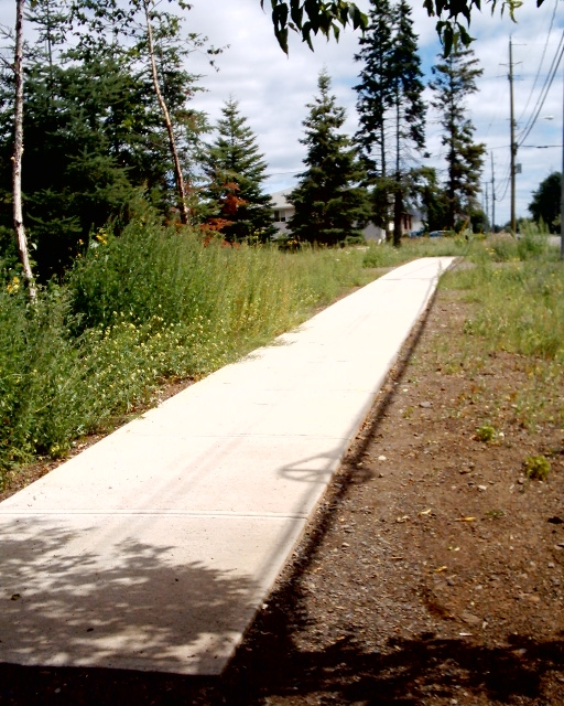 Abandoned sidewalk in Thunder Bay, Ontario