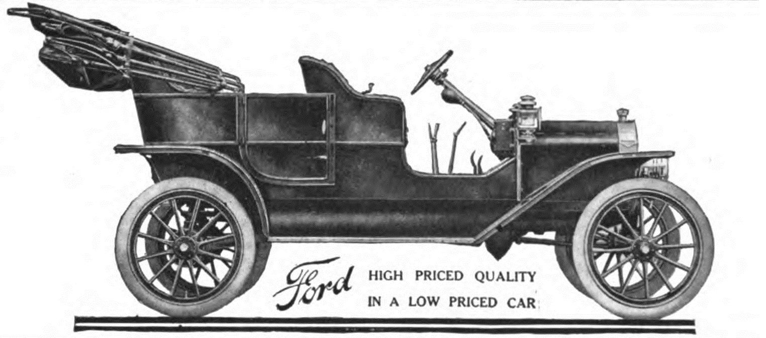 1908 Ford Model T ad from Oct. 1, 1908 Life ma...