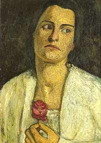 Clara Westhoff, portrait by Paula Modersohn-Be...