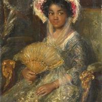 Jonge vrouw met hoed / Young woman with hat in Rijksmuseum Amsterdam