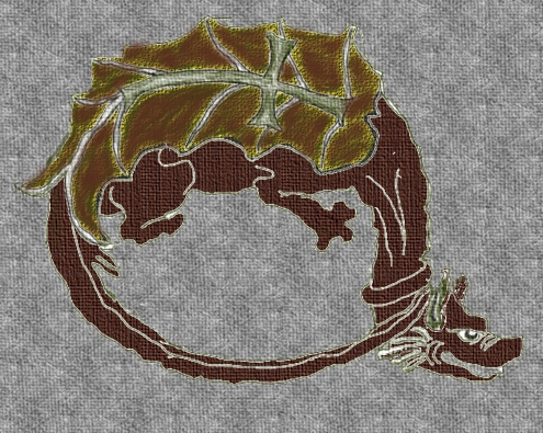 Order of the Dragon. From a textile insignia d...