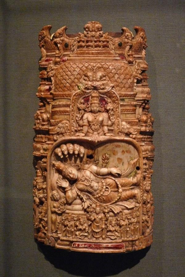 File Miniature Hindu Shrine With Deity Vishnu Sleeping