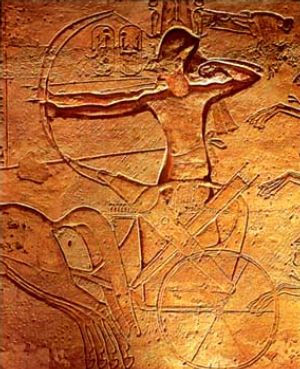 Relief of Ramses II located in Abu Simbel, dep...