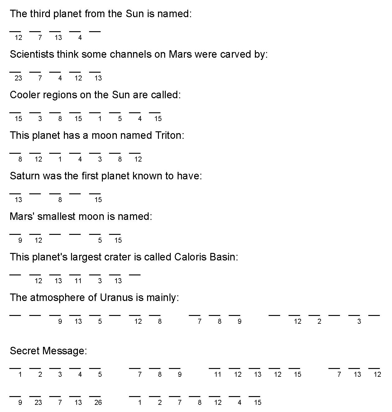 File Solar System Crypto Quiz