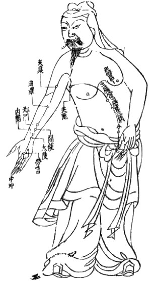 Acupuncture chart from the Ming Dynasty: The P...
