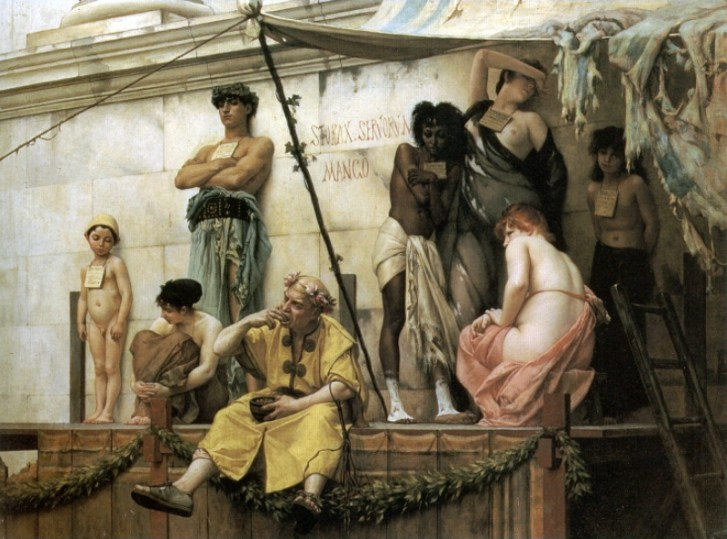 Boulanger Gustave Clarence Rudolphe The Slave Market