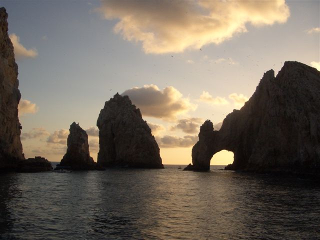 View of Land's End arch on the southern tip of...