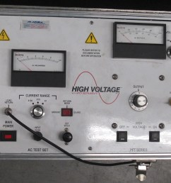 control panel of a portable high voltage hipot tester this instrument can test up to 100 kv dc [ 3582 x 2962 Pixel ]