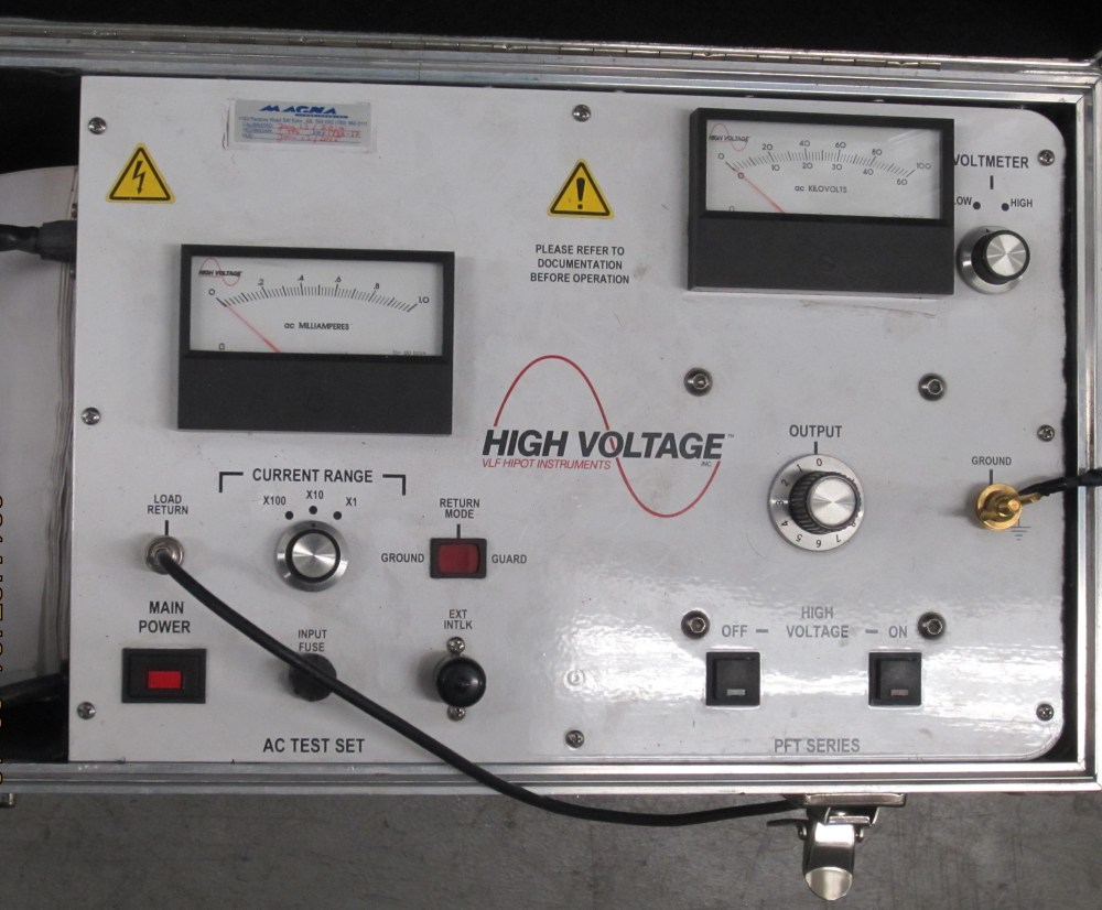 medium resolution of control panel of a portable high voltage hipot tester this instrument can test up to 100 kv dc