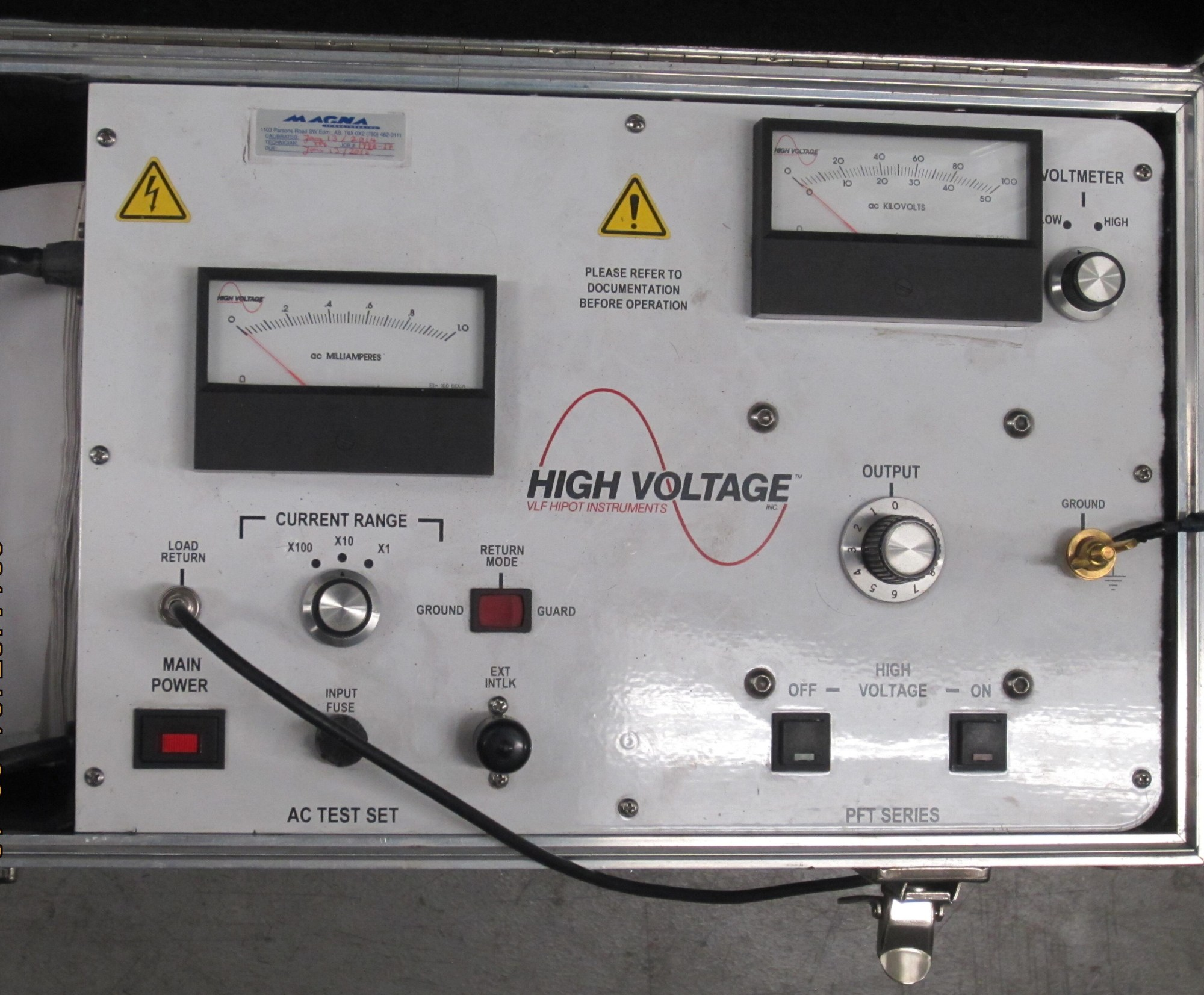 hight resolution of control panel of a portable high voltage hipot tester this instrument can test up to 100 kv dc