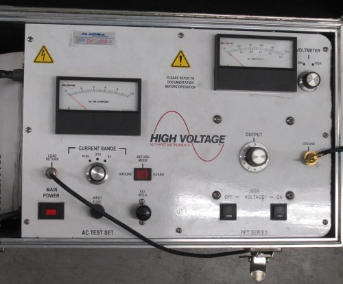 small resolution of control panel of a portable high voltage hipot tester this instrument can test up to 100 kv dc