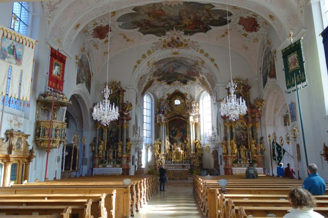 Interior of Sankt Peter and Paul church, Mittenwald