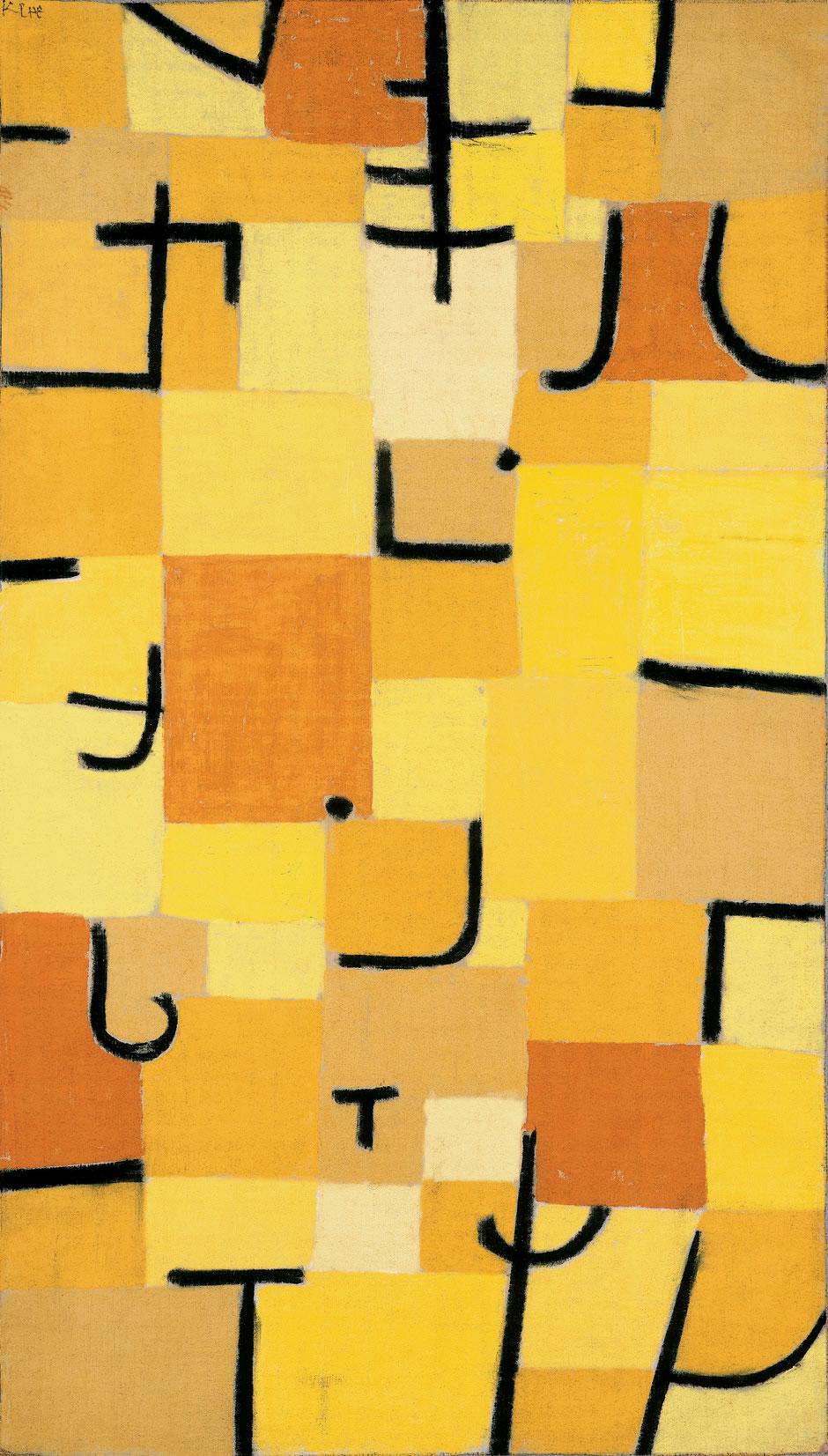 Signes en Jaune by Paul Klee, 1937