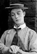 English: Buster Keaton wearing his trademark p...