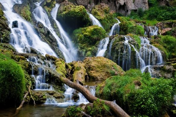 file waterfalls-rocks-landscape