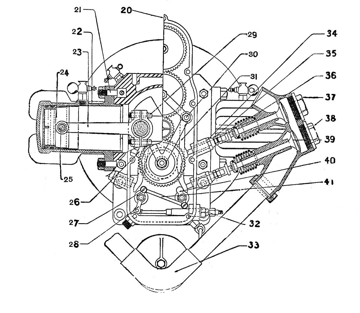 File Douglas Opposed Twin Engine Longitudinal Section