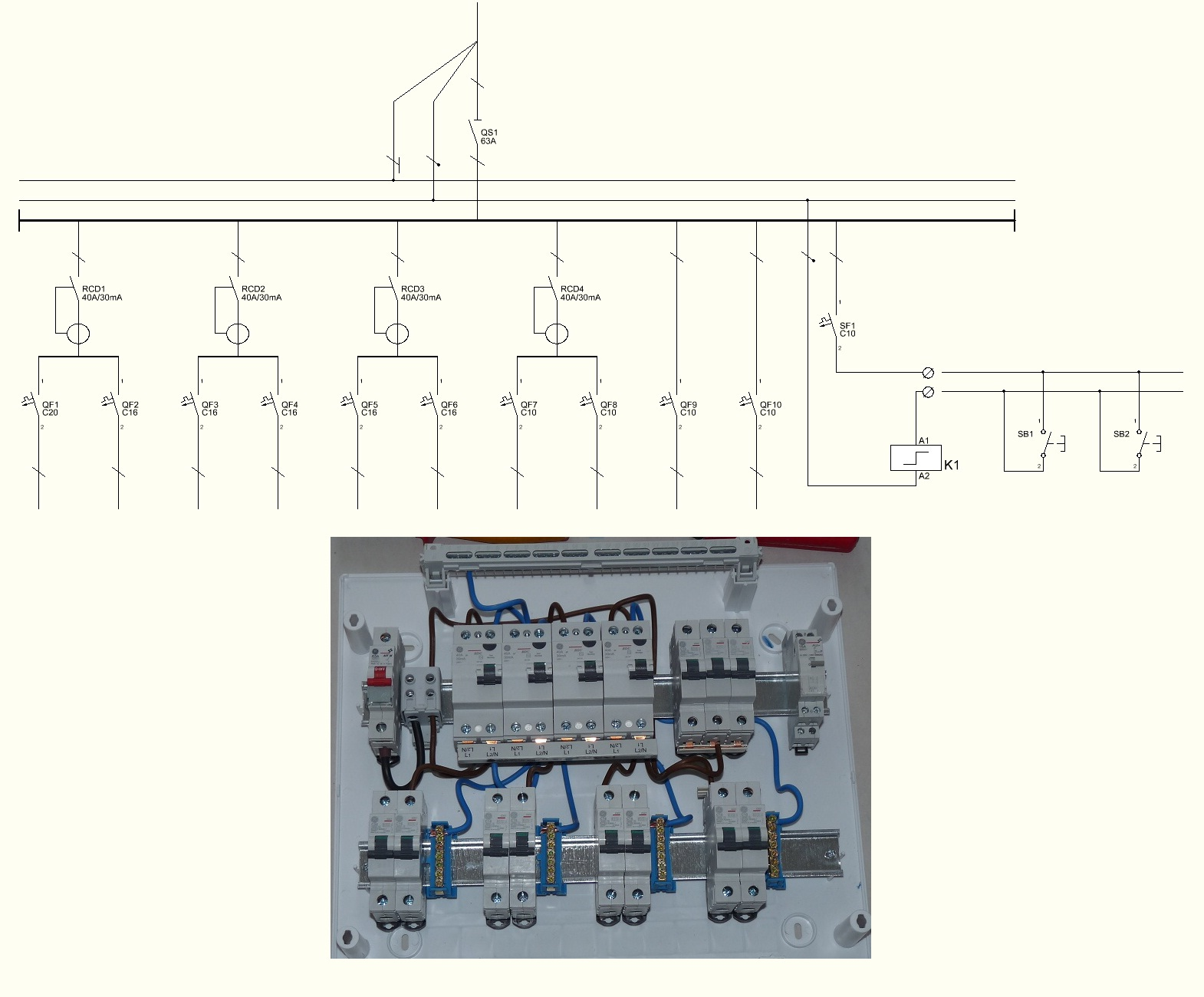 Single Line Wiring Diagram