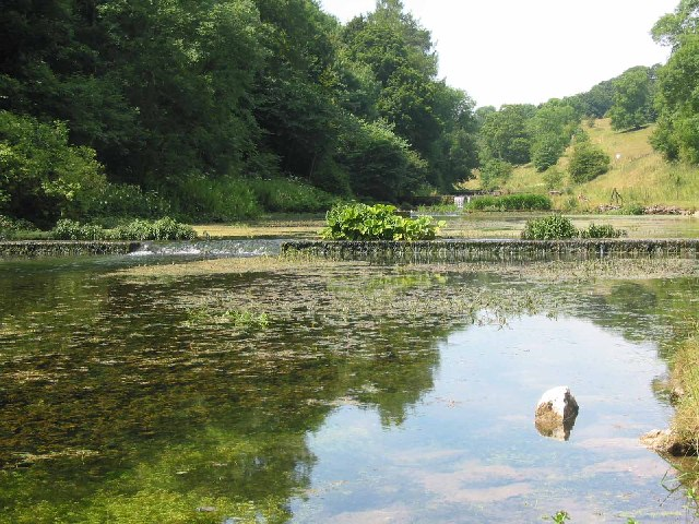 English: Lathkill Dale. The start of the weirs...